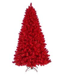 7 5 u0027 ashley red christmas tree 7 5 foot ashley red artificial