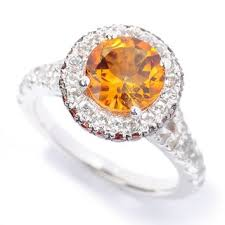 white topaz engagement ring sterling silver citrine brown zircon and white topaz halo ring