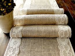 burlap table runner wedding table runner with country