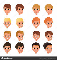 design hair game cartoon collection of variety of boy s hair styles and colors kid