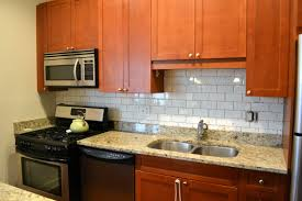 oak cabinets kitchen natural white tiles knotty pine red tile