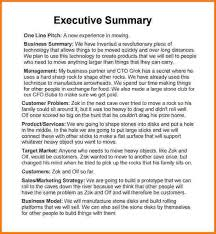 summary report template 6 executive summary report sle financial statement form