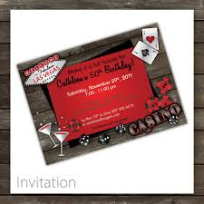 party invitations breathtaking casino party invitations designs