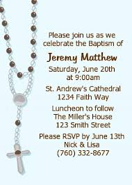 baptism rosary rosary blue baptism christening invitations candles and
