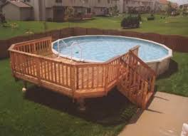 oval pool deck plans free above ground pool side deck plans the