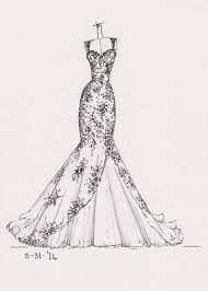 drawing wedding dresses wedding dress clipart easy draw pencil and in color wedding