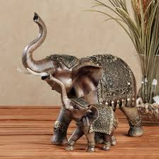 safari and african home decor touch of class nurturing elephant sculpture brown