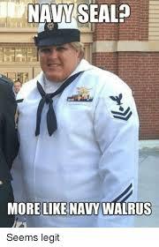 Navy Seal Meme - navy seal more like navy walrus seems legit navy meme on me me