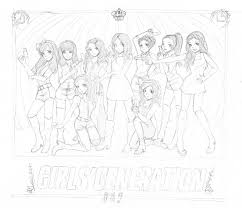 Snsd Hoot Wip By Mosspluse On Deviantart Coloring Pages Kpop