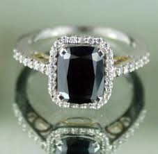 black stone rings images Black stone engagement rings 2 82 ct silver wedding solitaire jpg
