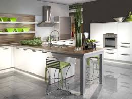 cuisine blanche et verte modèle deco cuisine blanche et verte