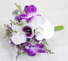 purple orchids purple touch orchids bouquet