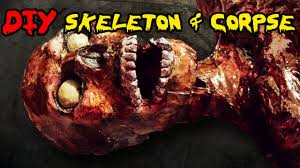 make your own halloween props how to make a skeleton diy homemade skeleton and corpse