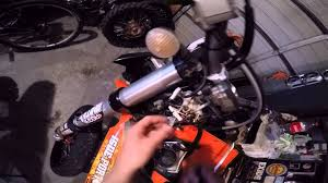 how to change wheels size setting on a ktm exc tacho youtube