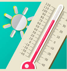 thermometer design thermometer with sun icon weather symbol vector image