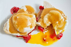 thanksgiving eggs benedict on closet cooking