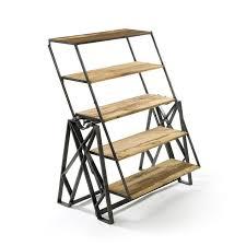 table converts to shelf reclaimed wood convertible shelf table dotandbo com pretty cool
