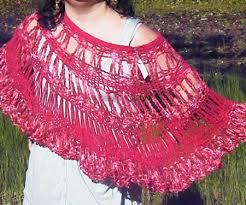 ponchos a palillo poncho tejido a palillos con aplicacion y crochet artesanum com