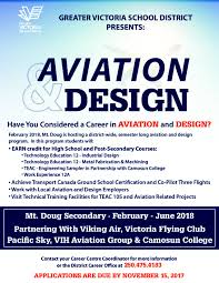 Home Design Courses Bc by Aviation U0026 Design The Greater Victoria District No 61