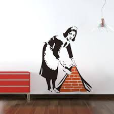 copper wall art home decor wall art stickers banksy image collections home wall decoration