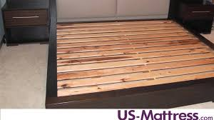 Bed Slat Frame How Many Slats Are Needed For Mattress Only Beds