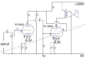 6v6 6j5 class a valve vacuum tube amplifier circuit wiring