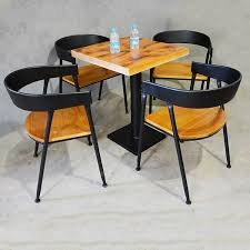 iron wood loft old casual cafe tables and chairs home bar chairs