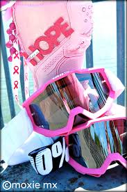 fox air space mx goggle pink ribbon motocross breast cancer awareness 100 motocross