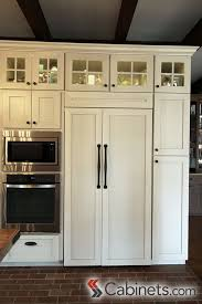 gray glazed white kitchen cabinets these shaker style antique white cabinets with a brushed