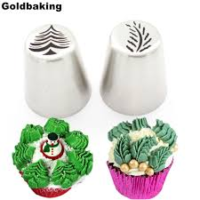 cupcake decorating tips 2 pieces christmas tree icing piping tips special russian leaf