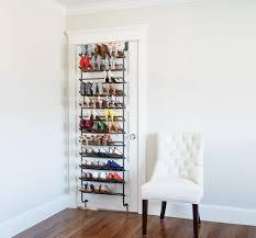 gunmetal 36 pair over the door shoe rack shoe rack closet wall