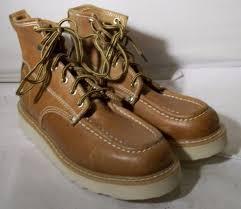 new dickies men u0027s 6 trader moc soft toe wd6162 work boots tan 8