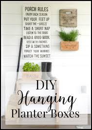 diy hanging planter boxes twelve on main