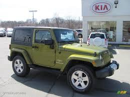 wrangler jeep 2008 2008 rescue green metallic jeep wrangler sahara 4x4 27235464