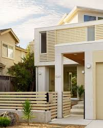 advantages minimalist fence houses in urban areas inspirations