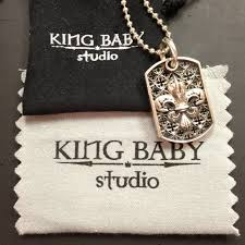 Baby Dog Tags 67 Off King Baby Jewelry Authentic King Baby Dog Tag On Chain