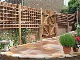 outdoor landscaping creative pine wood stockade backyard fence