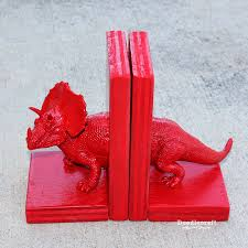 Be Right Back Bookend Doodlecraft Dinosaur Bookends With Glue