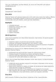 Resume Examples For Teacher by Preschool Teacher Resume Sample Jennywashere Com