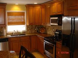 Painted Kitchen Backsplash Ideas Kitchen Doors Kitchens With Oak Cabinets And Granite Green