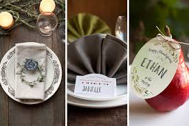 three diy thanksgiving place settings gift favor ideas from