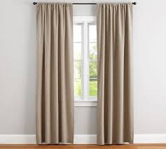 Pottery Barn Ruffle Blackout Panel by Emery Linen Cotton Curtain Pottery Barn Au