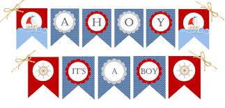 sailor baby shower decorations ahoy it s a boy nautical baby shower decorations banner