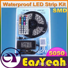 best buy led light strips 5050 rgb led light strips kit 12v waterproof 5m 300 leds 44key ir