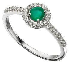 white emerald rings images Diamond emerald ring white gold ring amulet fine jewellery jpg