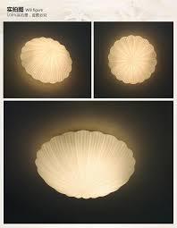 shell shape led ceiling light modern warm bedroom glass ceiling