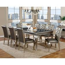 avalon furniture regency park 9 piece dining table set hayneedle