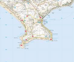 Plymouth England Map by Cawsand U0026 Polhawn Forts Print Walk South West Coast Path
