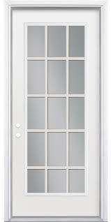 Slab Exterior Door 15 Lite Exterior Door Slab