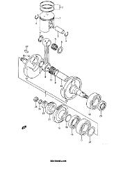 1986 suzuki lt250r quad racer crankshaft model f g parts best